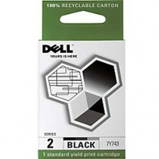 Dell 7Y743 Series 2 Black Genuine Ink Cartridge