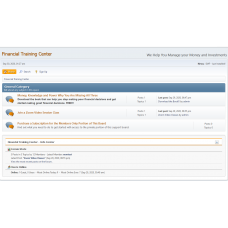 Financial Training Center Support Board Subscription