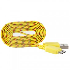 10FT Braided Original OEM Samsung Galaxy Note3 S5 USB 3.0 Data Sync Cable Charger - Yellow